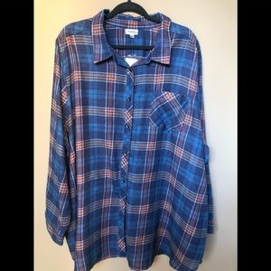 Plus size NWT Avenue flannel